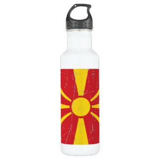 引きずられ、傷付けられたマケドニアの旗 ウォーターボトル
