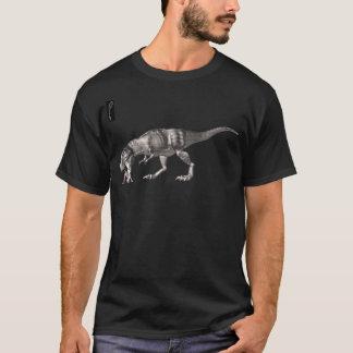 引き分けのサムおよびTレックス-右腕の生産 Tシャツ