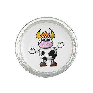 引き分けの漫画の白黒牛Bull 指輪