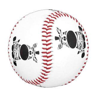 引き分けの白黒漫画のシマウマのモデル 野球ボール
