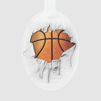 引き裂かれたバスケットボール オーナメント
