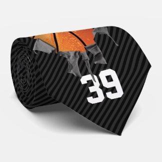 引き裂かれたバスケットボール(暗くか名前入り) ネクタイ