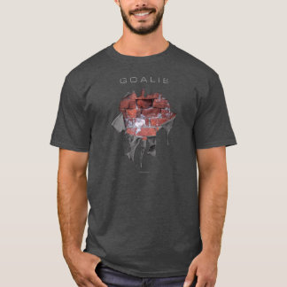 引き裂かれたレンガ壁のゴールキーパー(ホッケー) Tシャツ