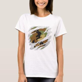 引き裂かれた肉の迷彩柄 Tシャツ