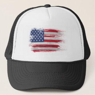 引き裂かれる米国旗 キャップ