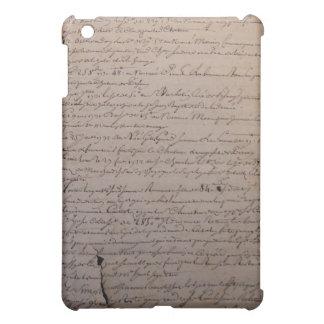引き裂かれ、ずたずたに裂かれる古くフランスのな文書 iPad MINI CASE