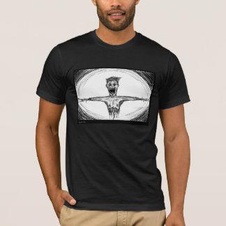 引き裂かれ、伸ばされる Tシャツ