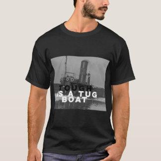 引っ張りのボートのTシャツのTシャツの黒として堅い Tシャツ