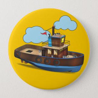 引っ張りのボート 缶バッジ