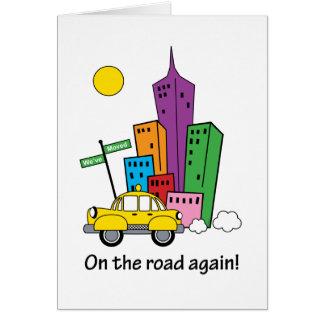 引っ越しましたの都市景観カード-垂直 グリーティングカード