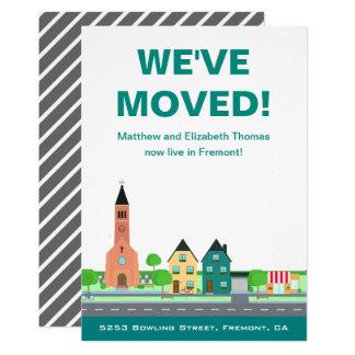 引っ越しました|の新しい住所|移動発表 カード