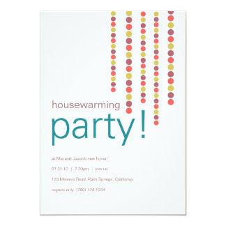 引っ越し祝いパーティーのパーティの招待状 カード