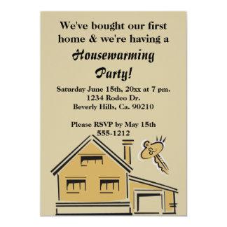 引っ越し祝いパーティーのパーティーの家及び鍵 カード