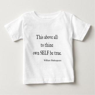 引用文がThineに自己を所有するシェークスピアは本当の引用文です ベビーTシャツ