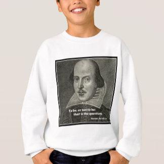 引用文のシェークスピアのポートレート スウェットシャツ