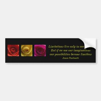 引用文のトリプティクのバラのオレンジ黄色のピンク バンパーステッカー
