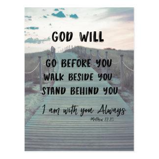 引用文の勇気付けられるおよび心地よいの聖書の詩 ポストカード