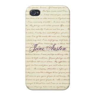 引用文の場合で満ちているジェーンAusten iPhone 4/4S Cover