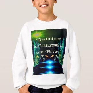 引用文の明るいネオンの抽象芸術の滝 スウェットシャツ