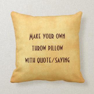 引用文または発言を用いるあなた自身の枕を作って下さい クッション