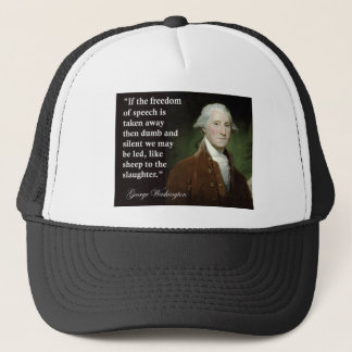 引用文ジョージ・ワシントンの言論の自由 キャップ