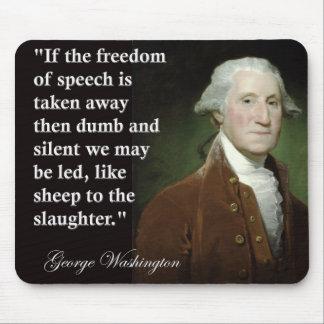 引用文ジョージ・ワシントンの言論の自由 マウスパッド