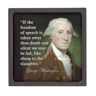 引用文箱ジョージ・ワシントンの言論の自由 ギフトボックス