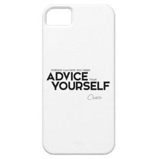 引用文: キケロ-あなた自身アドバイス iPhone SE/5/5s ケース