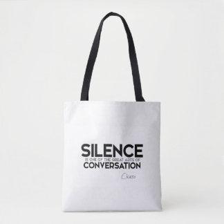引用文: キケロ: 沈黙、会話 トートバッグ