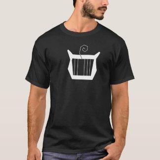 弦を外されたハープ奏者の白 Tシャツ