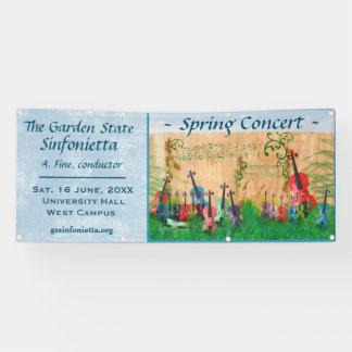 弦楽器の庭コンサートの発表 横断幕