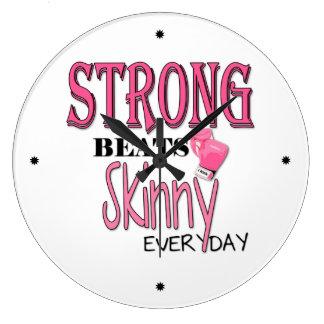 強いビートの細い毎日! W/Pinkのボクシンググラブ ラージ壁時計