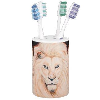 強いライオンのポートレートの油の芸術 バスセット