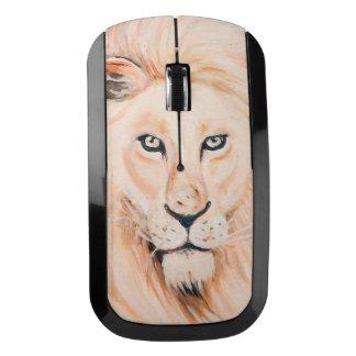 強いライオンのポートレートの油の芸術 ワイヤレスマウス