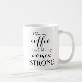 強い女性、強いコーヒー・マグ コーヒーマグカップ