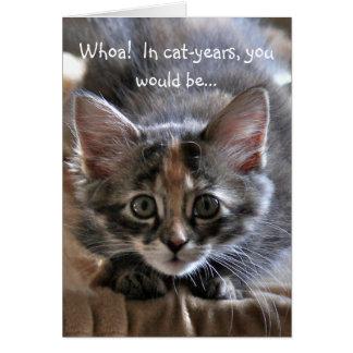 強い子ネコのハッピーバースデーカード カード