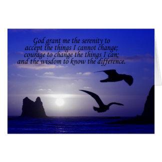 強い平静の祈りの言葉の青い滞在! カード