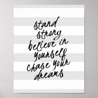 強い立場あなた自身はやる気を起こさせるな引用文のプリントです ポスター