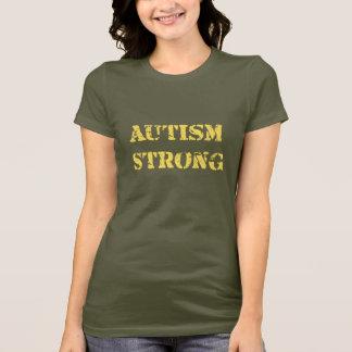 強い自閉症 Tシャツ