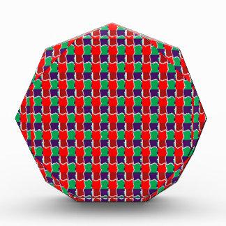 強い色の赤いグラフィックアート前向きなエネルギーギフト 表彰盾