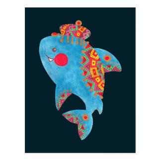 強い鮫 ポストカード