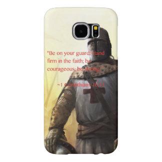 """""""強い""""第1 Corinthiansの16:13があって下さい Samsung Galaxy S6 ケース"""