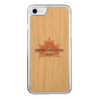 強い。 自由。 丁寧。 カナダ木箱 CARVED iPhone 8/7 ケース