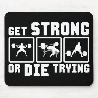 強くなりますか、または-体育館の刺激試みることを死んで下さい マウスパッド