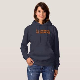 強く、勇気があるフード付きスウェットシャツがあって下さい パーカ