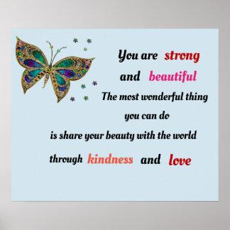 強く、美しい蝶 ポスター