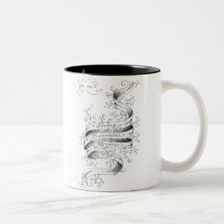 強く、美しく及び勇敢 ツートーンマグカップ
