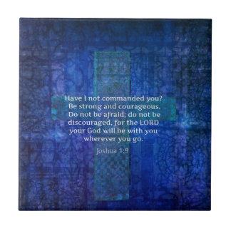 強さについてのジョシュアの1:9の聖書の詩 タイル