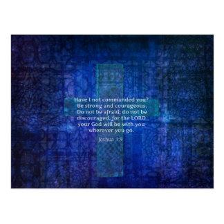 強さについてのジョシュアの1:9の聖書の詩 ポストカード