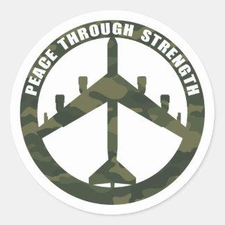 強さによる平和 ラウンドシール
